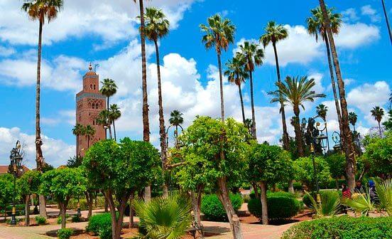 Torre Koutoubia perteneciente a la mezquita de Marrakech