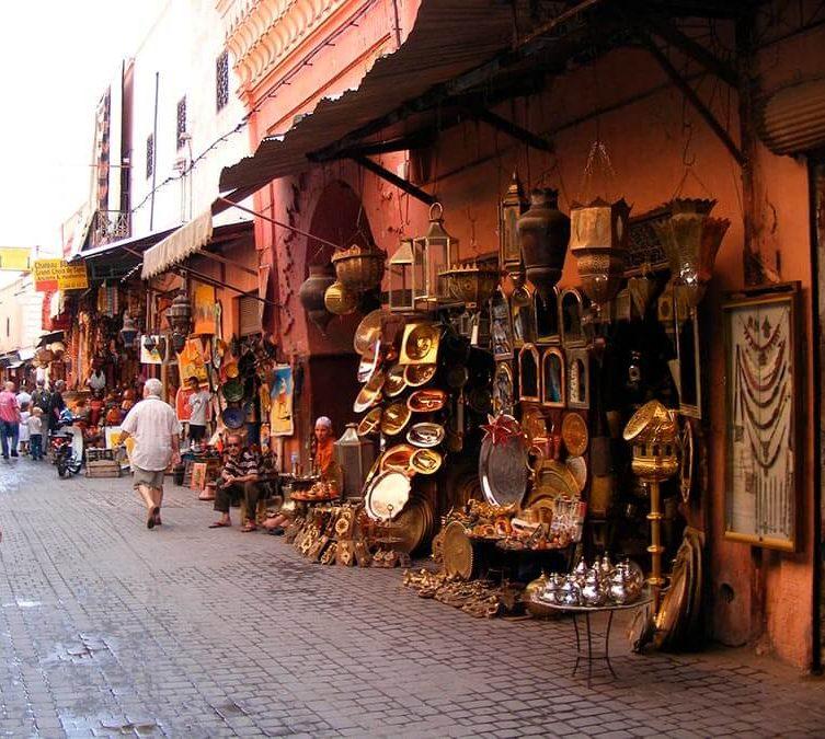 tiendas en el zoco de marrakech