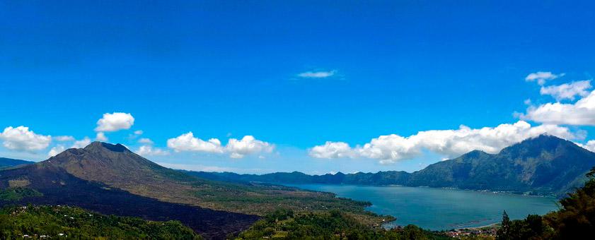 Monte butur y su volcan en Bali