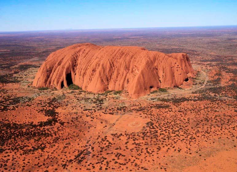 formación rocosa Uluru en Australia
