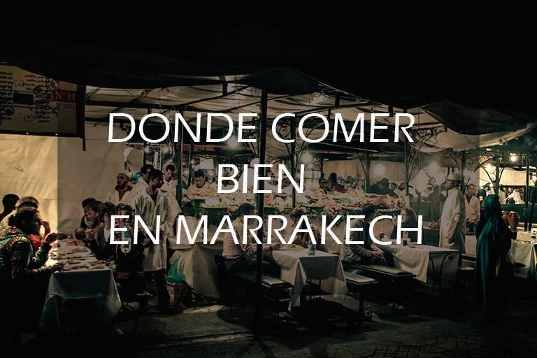 dónde comer bien en Marrakech