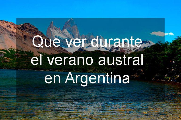 verano austral en argentina