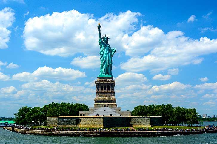 Liberty island Estatuda de la libertad en Nueva York