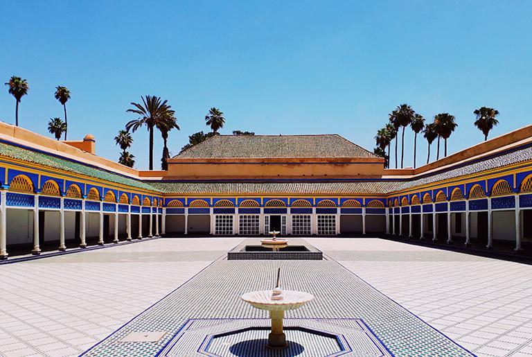 Patio en el Palacio de la Bahia